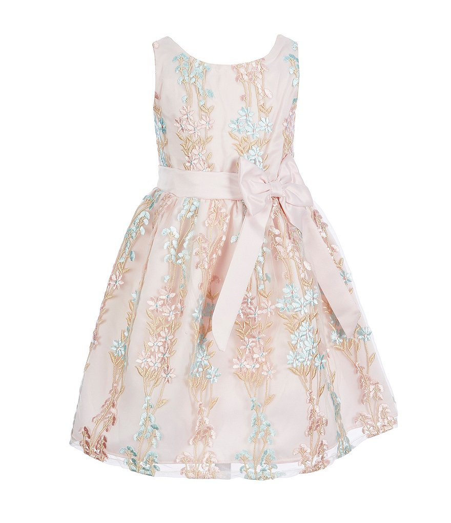 Rare Editions Little Girls 2T-6X Floral-Embroidered Bow Dress