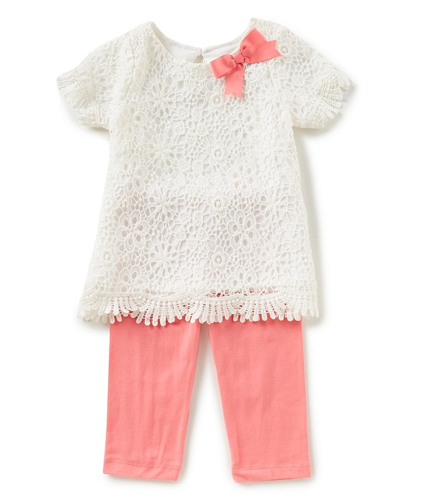 Rare Editions Little Girls 2T-6X Lace Tunic & Knit Leggings Set
