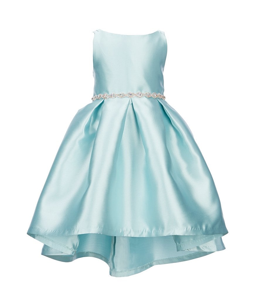 Rare Editions Little Girls 4-6X Hi-Low Pleated Dress