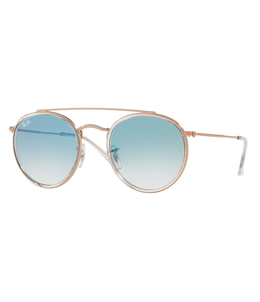 Ray-Ban Blaze Phantos Gradient Double-Bridge Round Sunglasses