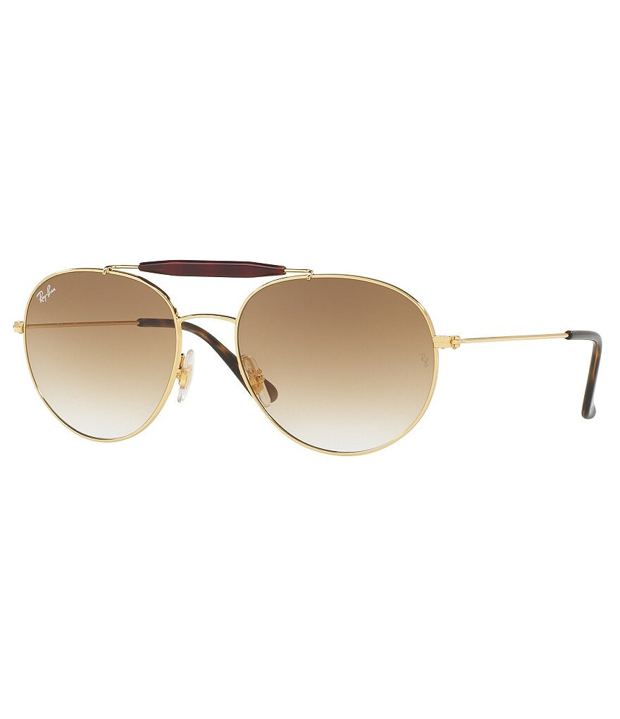 Ray-Ban Gradient Brow-Bar Round Sunglasses