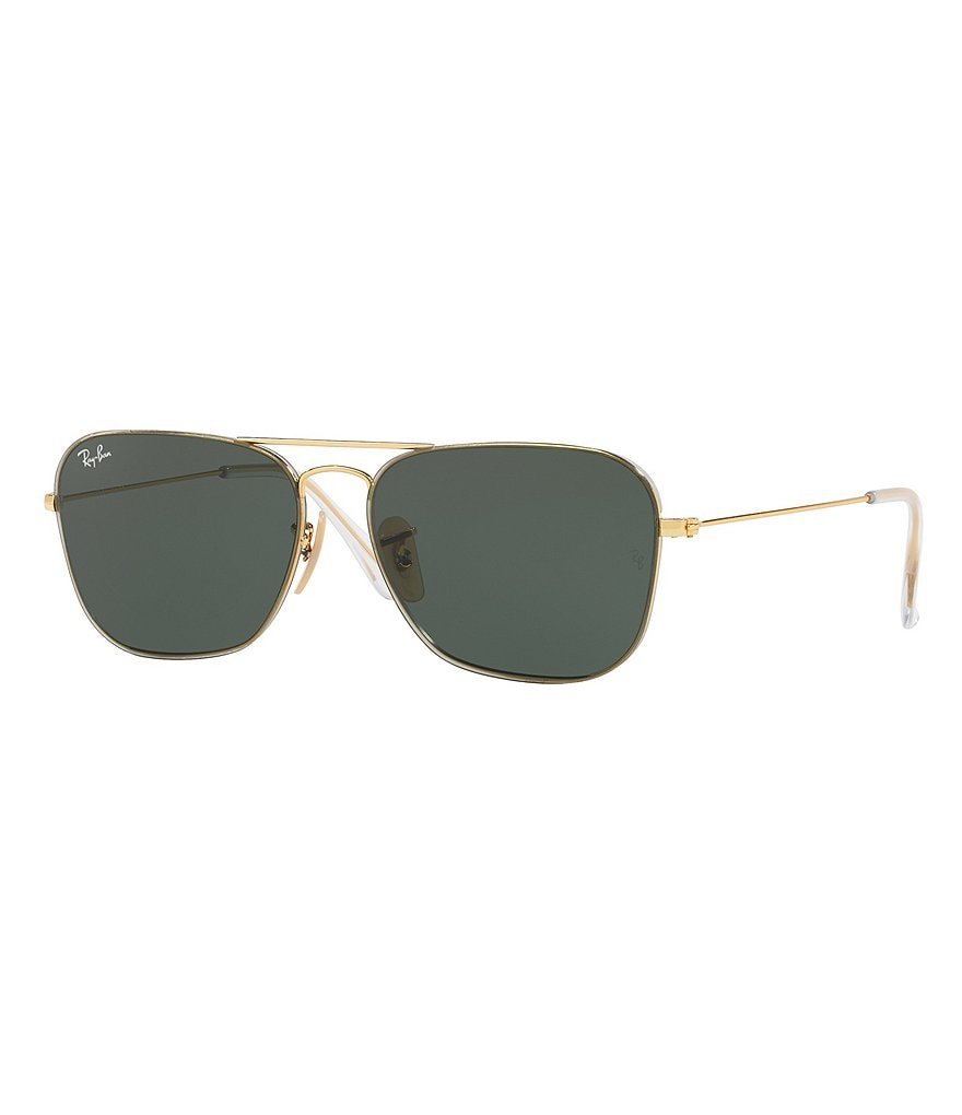 Ray-Ban Ladies Gold Square Shaped Sunglasses