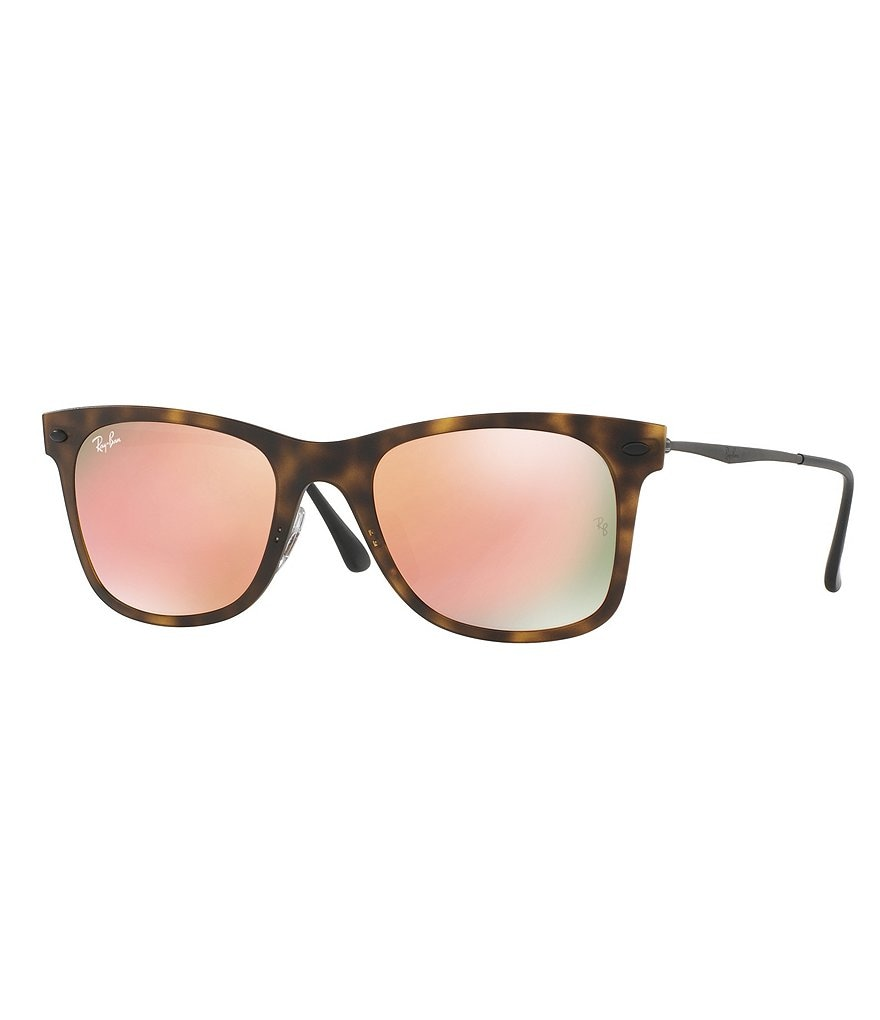 Ray-Ban Light Ray Square Flash/Mirror Sunglasses