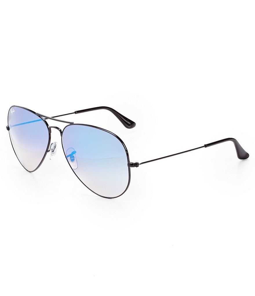 Ray-Ban Mirrored Ombré Aviator Sunglasses