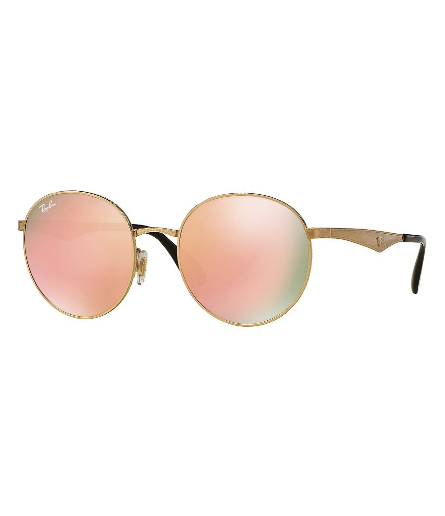 Ray-Ban Mirrored Round Sunglasses