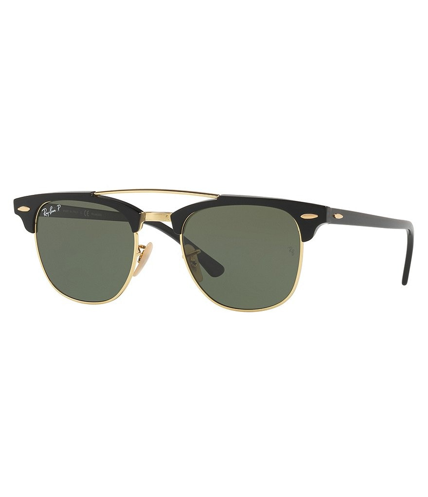 Ray-Ban Polarized Clubmaster with Brow Bar Sunglasses