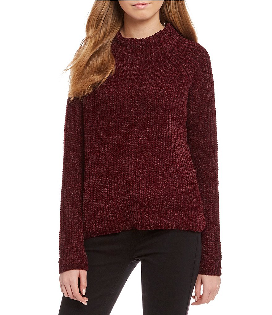 RD Style Chenille Mockneck Pullover Sweater
