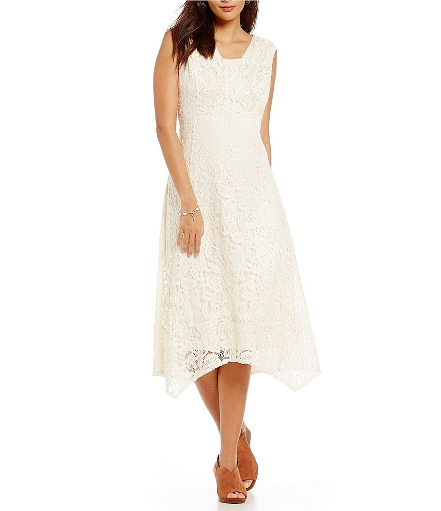 Reba Embroidered Applique Lace Dress