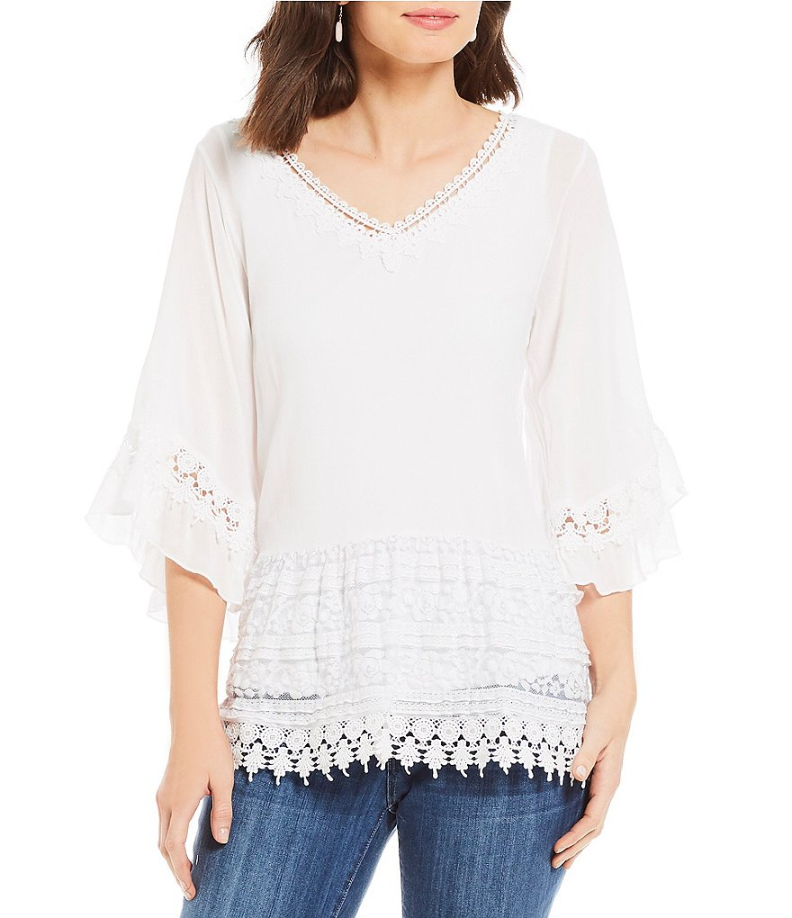 Reba Embroidered Lace Tunic