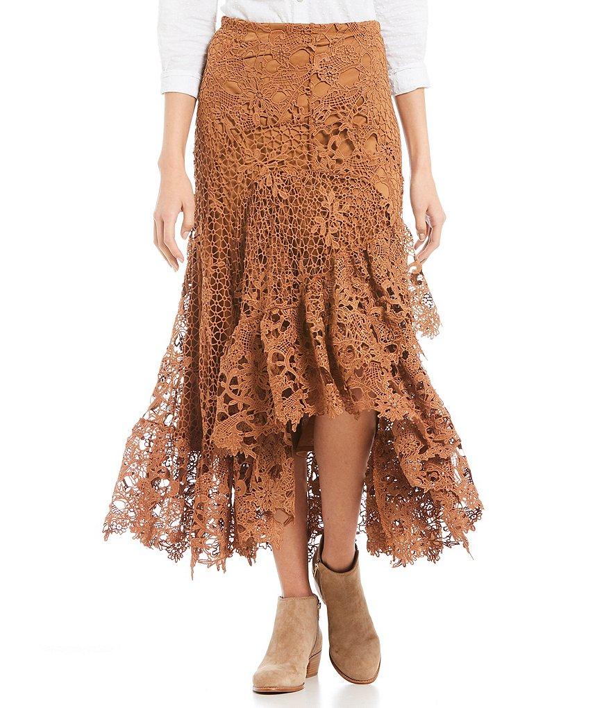 reba lace asymmetrical skirt dillards