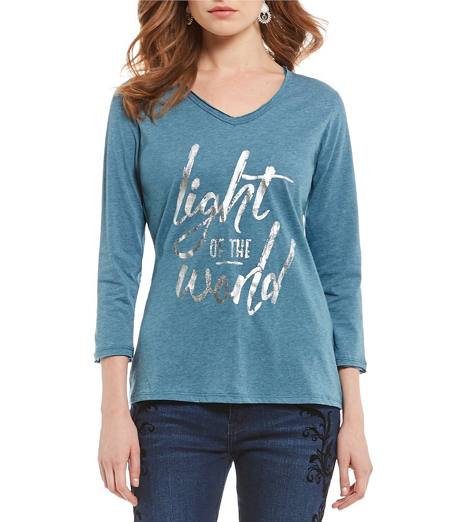 Reba Light Of The World Foil Graphic Tee