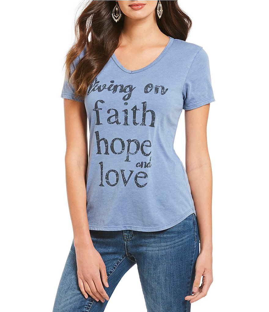 Reba Living on Faith, Hope and Love Graphic Tee