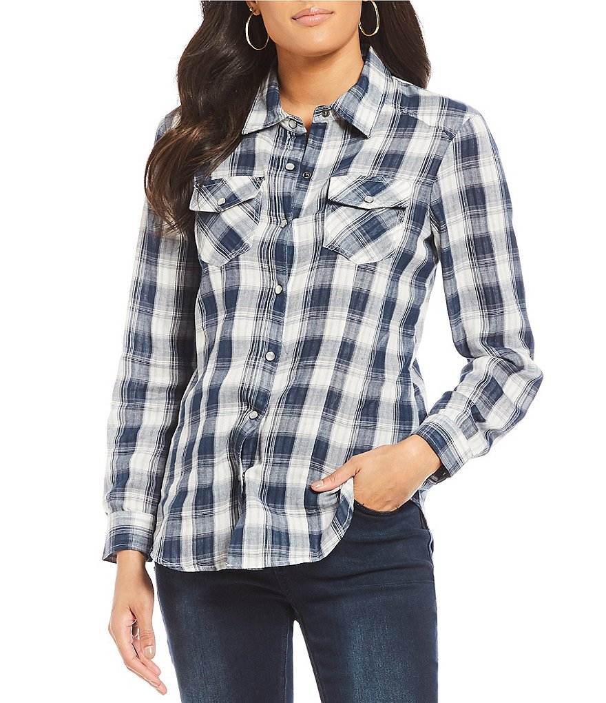 Reba Plaid & Stripe Double-face Shirt