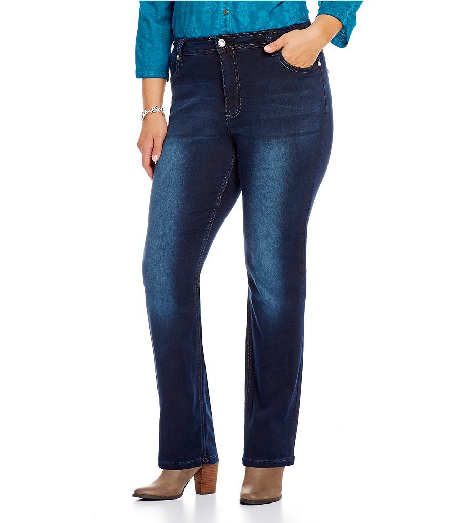 Reba Plus 5-Pocket Sequin Embellished Skinny Jeans