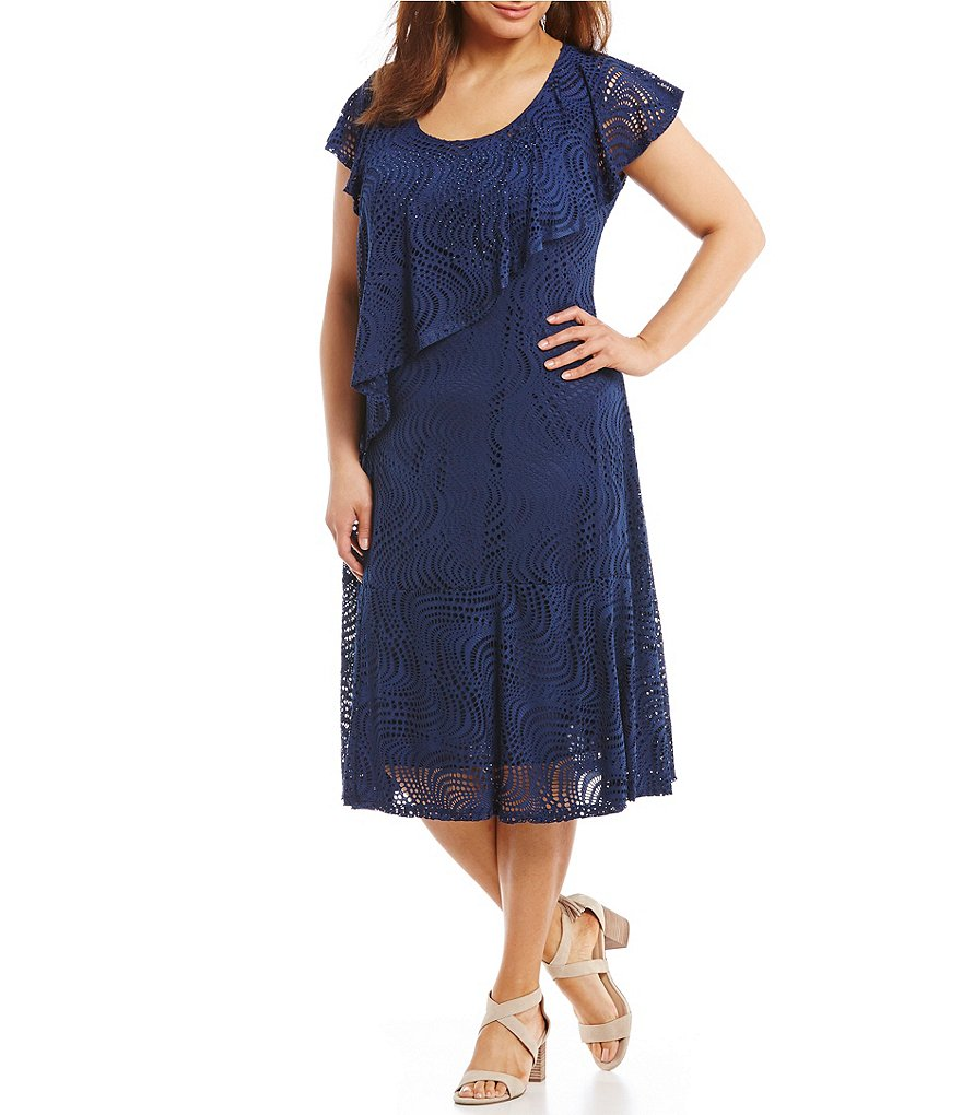 Reba Plus Asymmetrical Popover Dress
