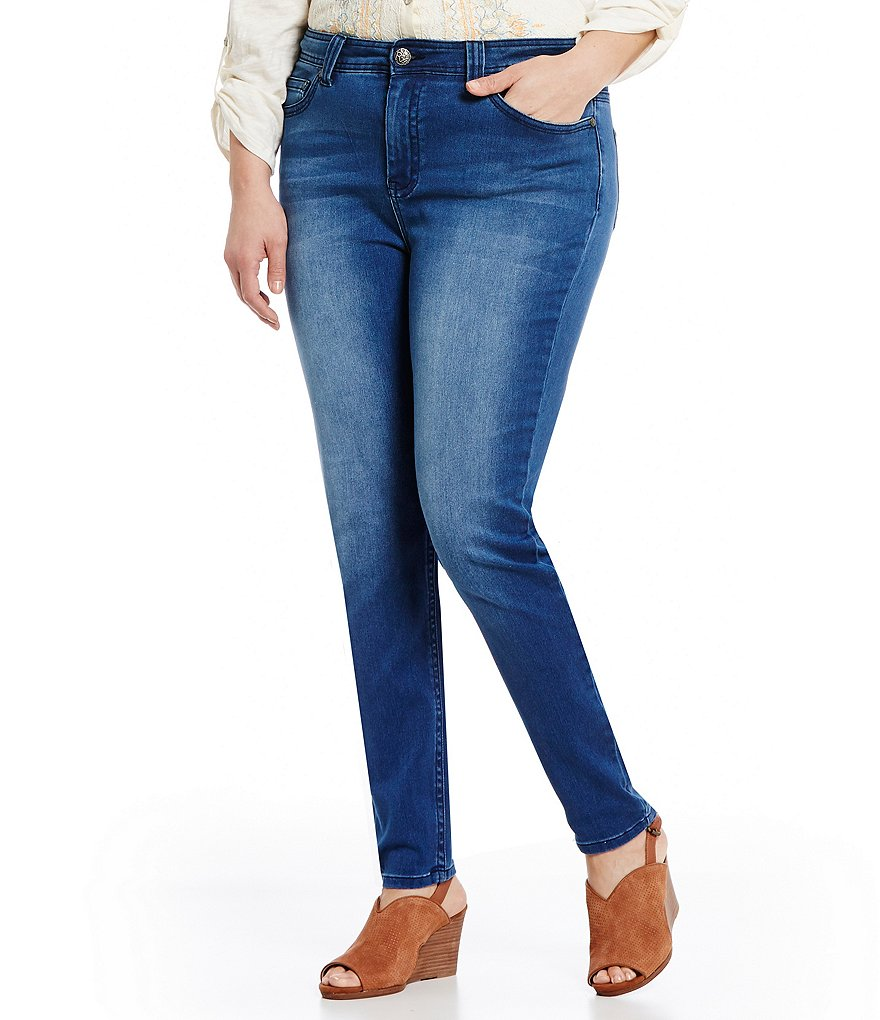 Reba Shades of Spring Plus Collection Sara Skinny Jeans
