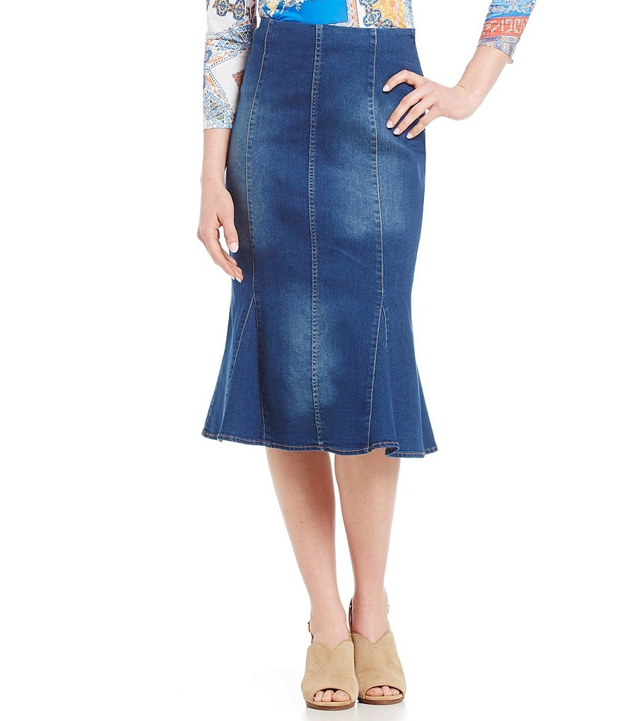Reba Stretch Denim Skirt