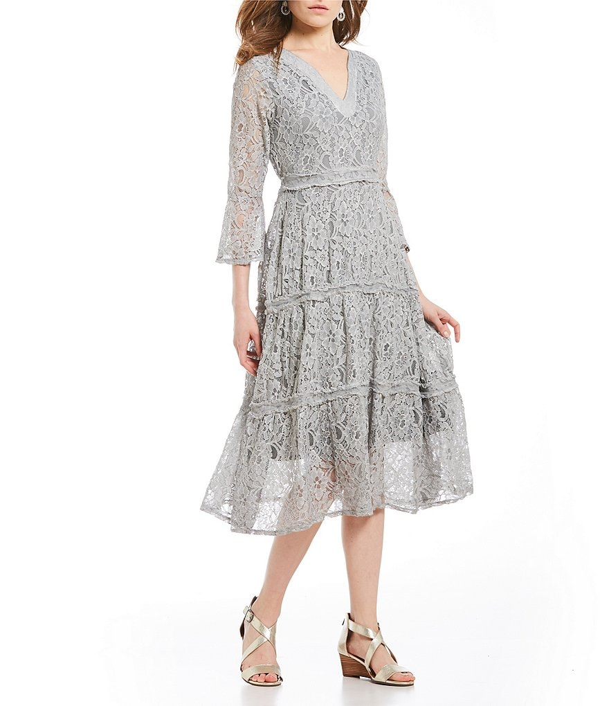 Reba Tiered Lace Dress