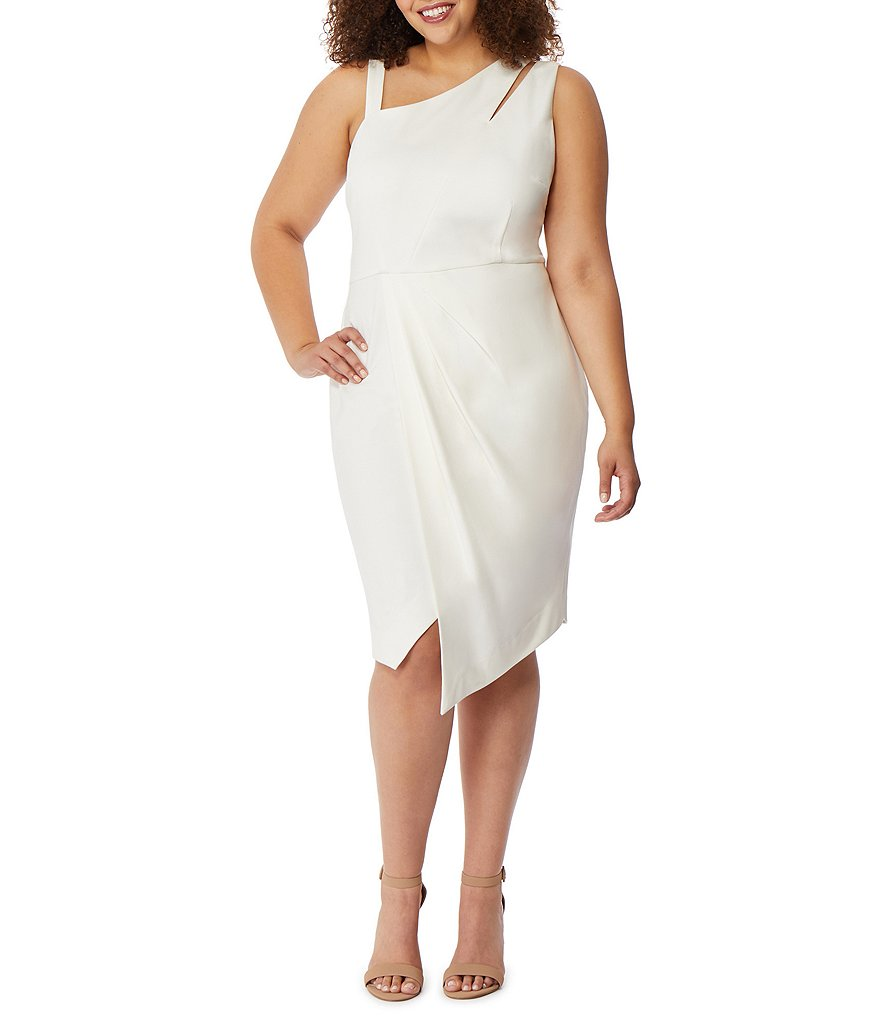 Rebel Wilson X Angels Plus Asymmetrical Cutout Dress