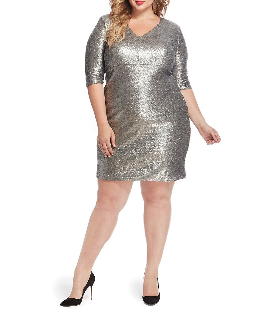 Rebel Wilson X Angels Plus Sequin Dress