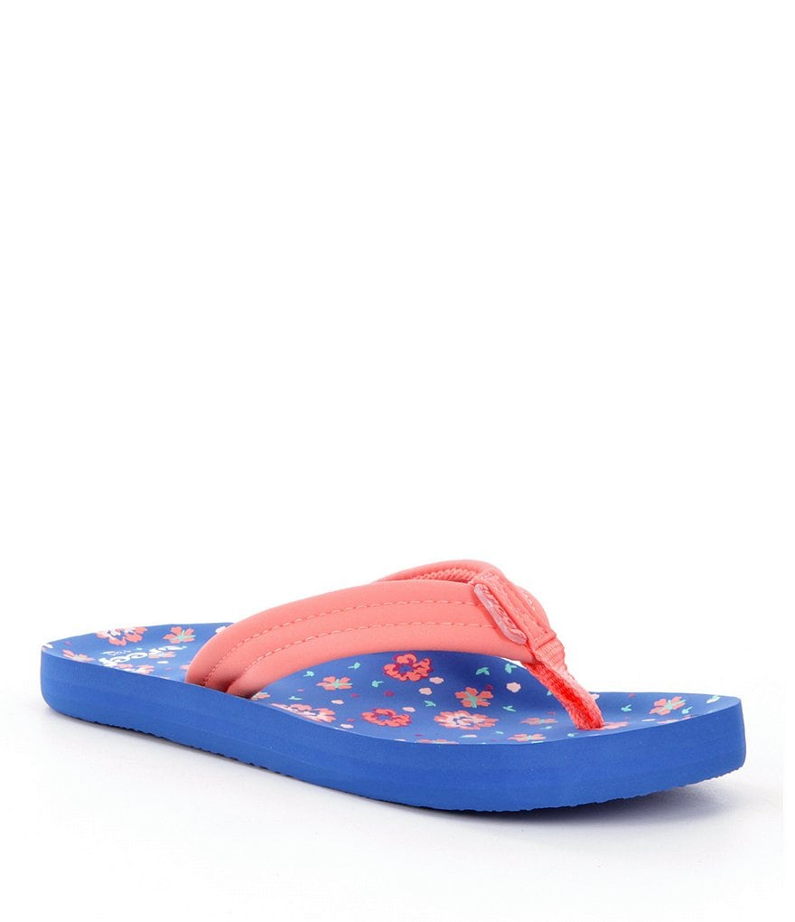 Reef Girls' Little Ahi Floral Flip-Flops