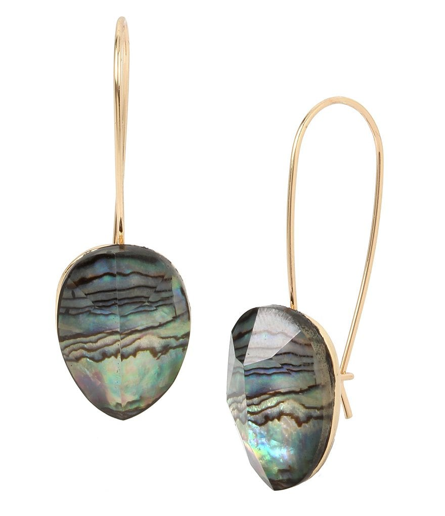 Robert Lee Morris Soho Abalone Drop Earrings