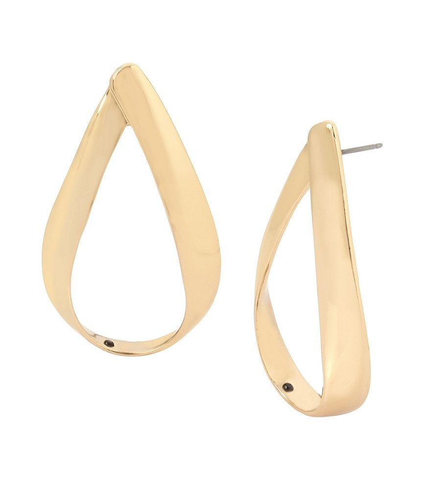 Robert Lee Morris Soho Gold Gypsy Hoop Earrings
