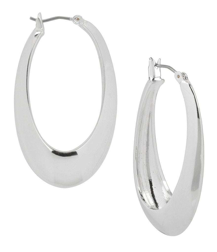 Robert Lee Morris Soho Sculptural Oval Hoop Earrings