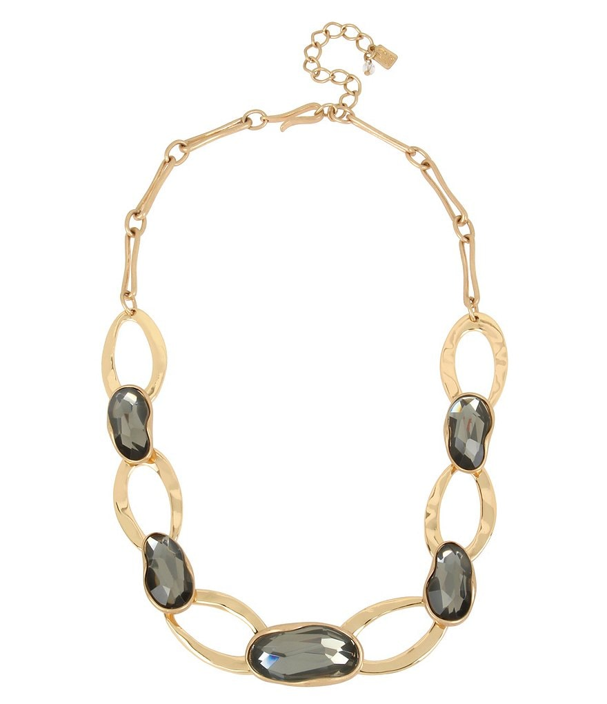 Robert Lee Morris Soho Stone & Oval Link Collar Necklace