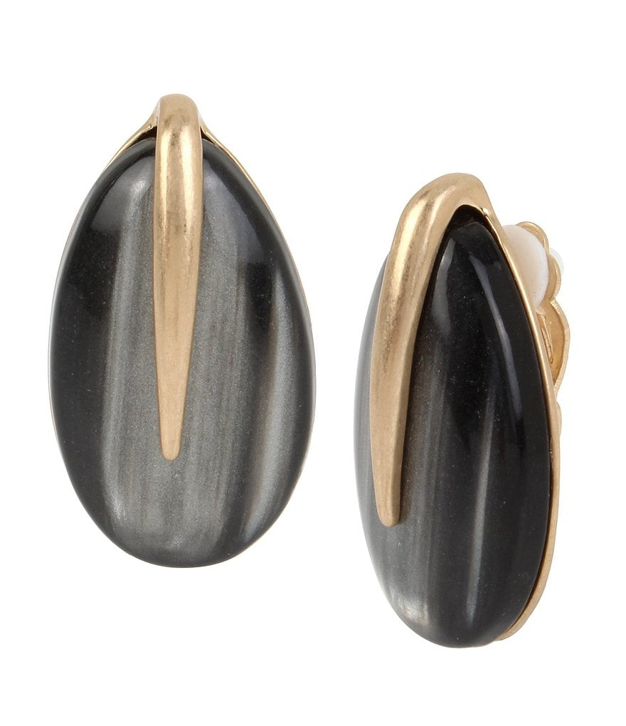 Robert Lee Morris Soho Teardrop Stone Clip-On Earrings