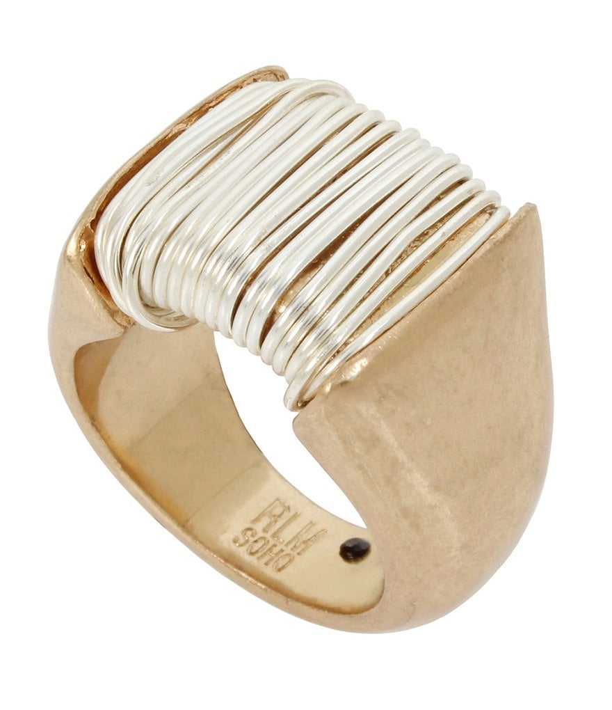 Robert Lee Morris Soho Two Tone Wire Wrapped Ring