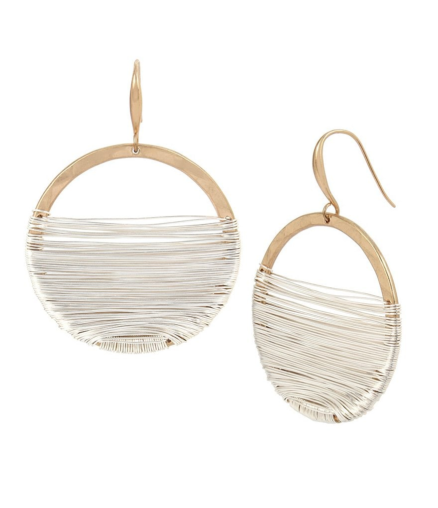 Robert Lee Morris Soho Wire Wrapped Gypsy Hoop Earrings