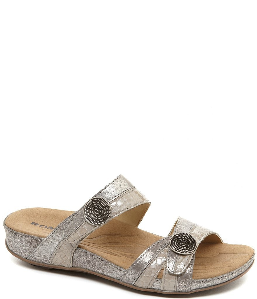 Romika Fidschi 22 Banded Leather Slide Sandals