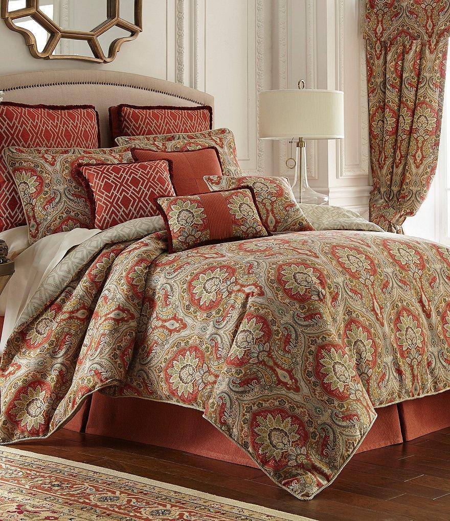 paisley king comforter sets Rose Tree Harrogate Paisley Damask & Geometric Diamond Comforter  paisley king comforter sets