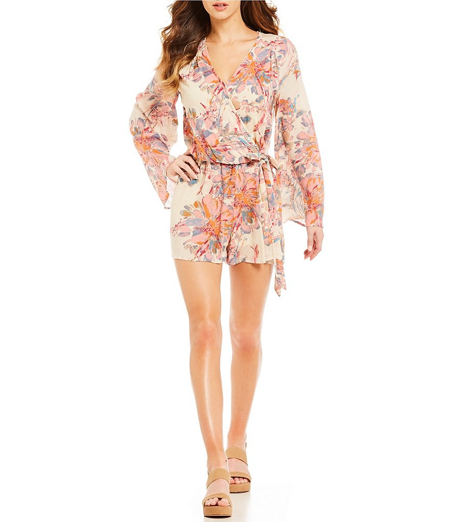 Rossmore by PPLA Carmen Floral-Printed Challis Romper