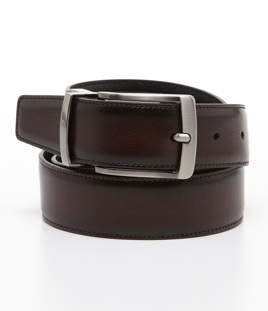 Roundtree & Yorke Big & Tall Burnished Edge Reversible Belt