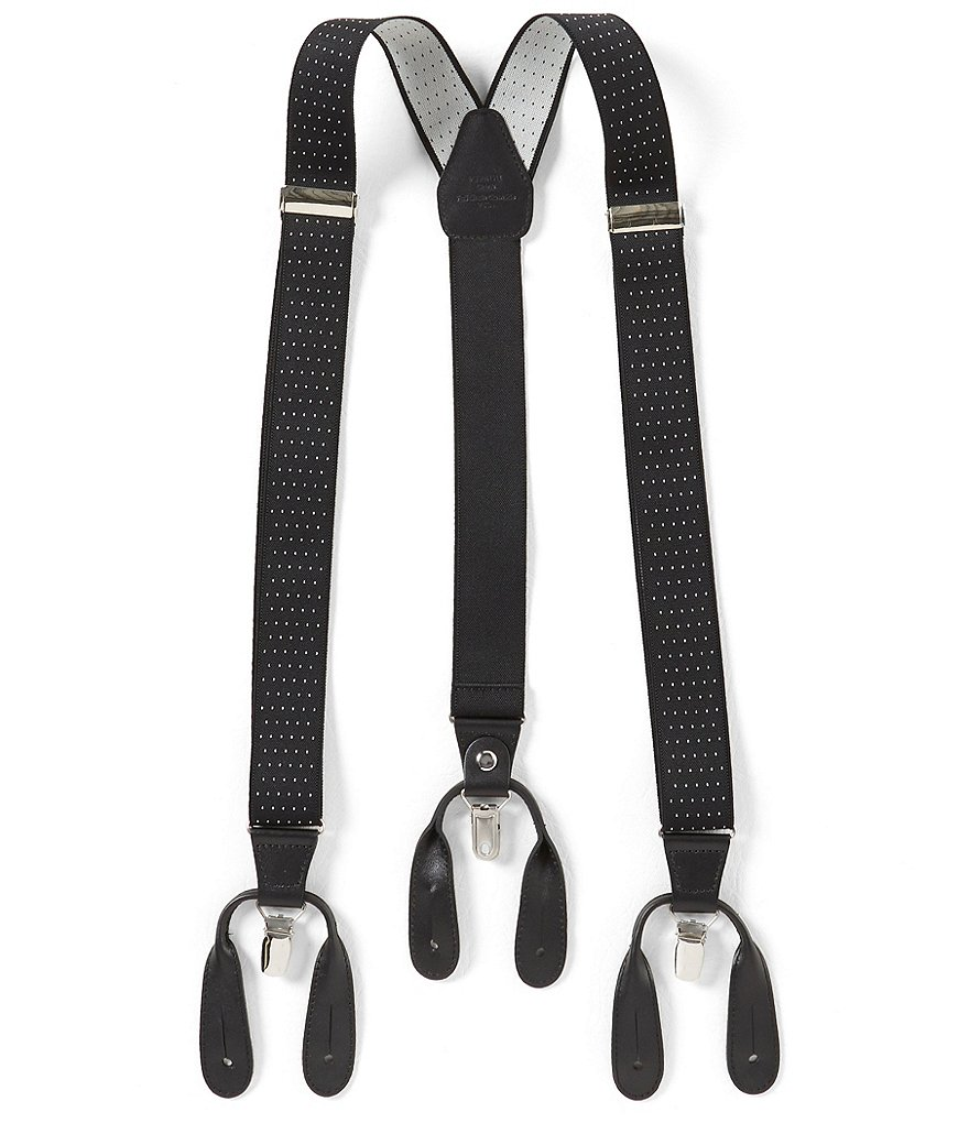 Roundtree & Yorke Big & Tall Dotted Suspenders