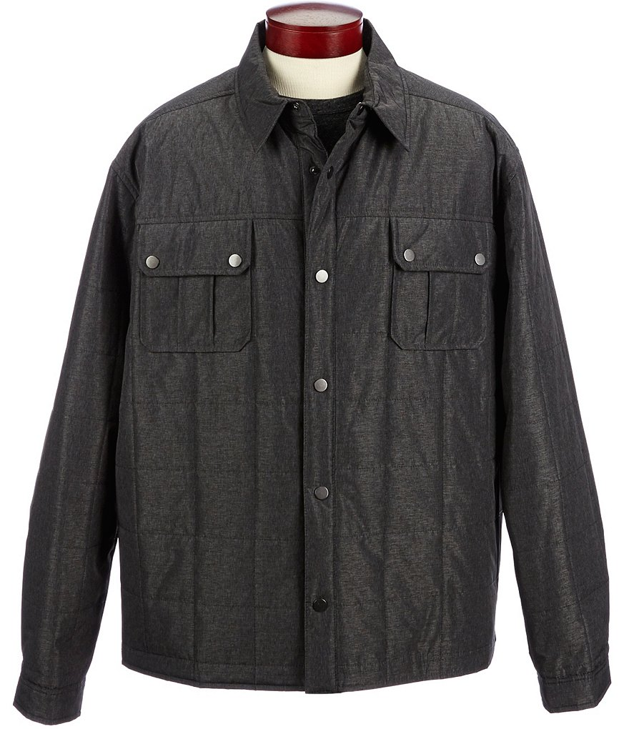 Roundtree & Yorke Big & Tall Quilted Shirt Jacket