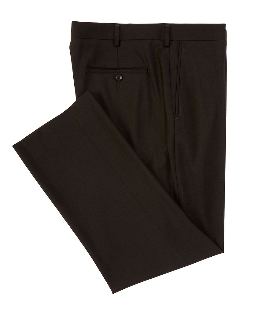 Roundtree & Yorke Big & Tall Travel Smart Comfort Classic Fit Flat Front Non-Iron Twill Dress Pants