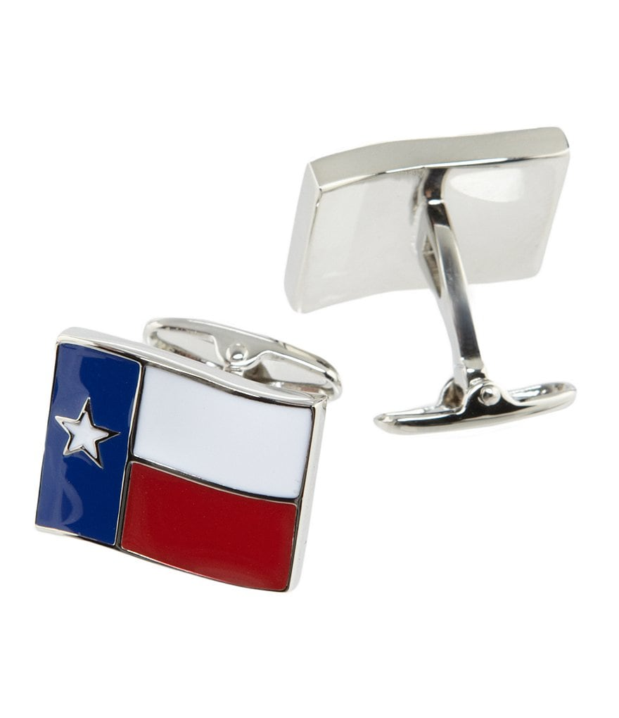 Roundtree & Yorke Texas Flag Cuff Links