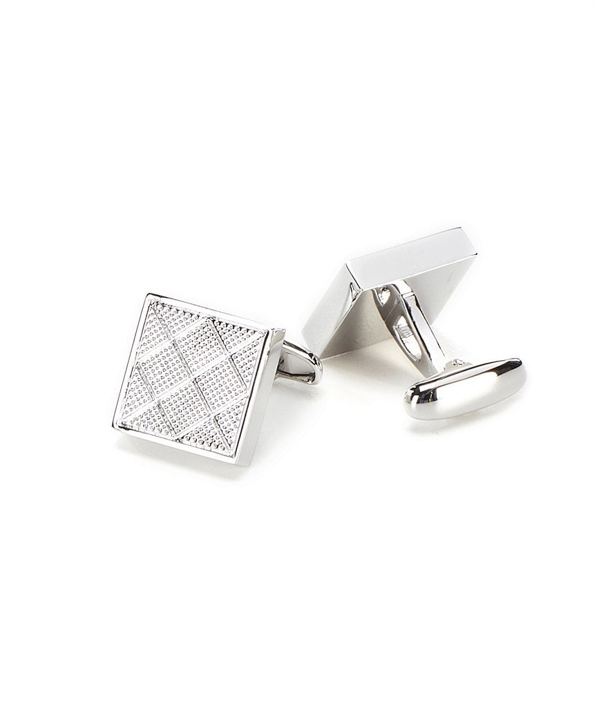 Roundtree & Yorke Diamond Textured Cuff Links