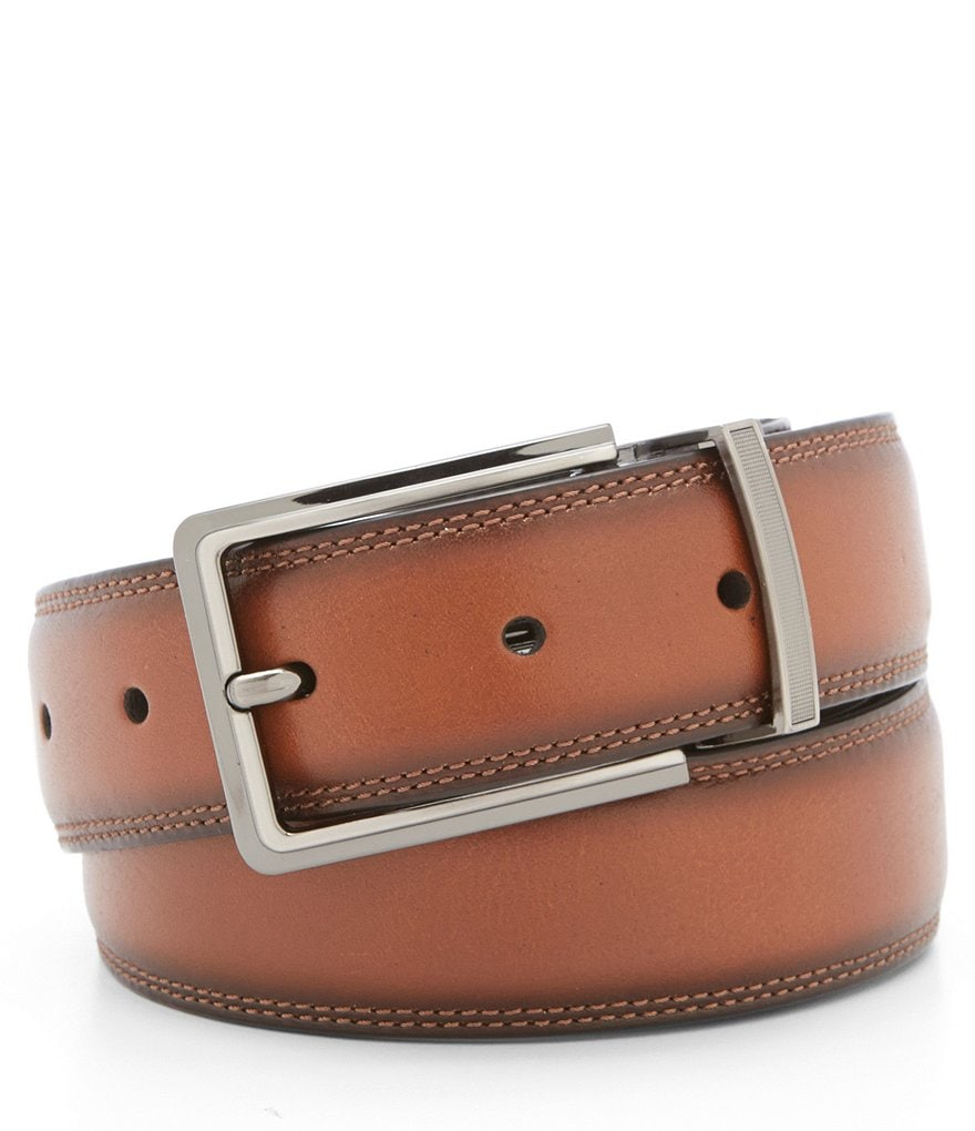 Roundtree & Yorke Double Leather Reversible Belt