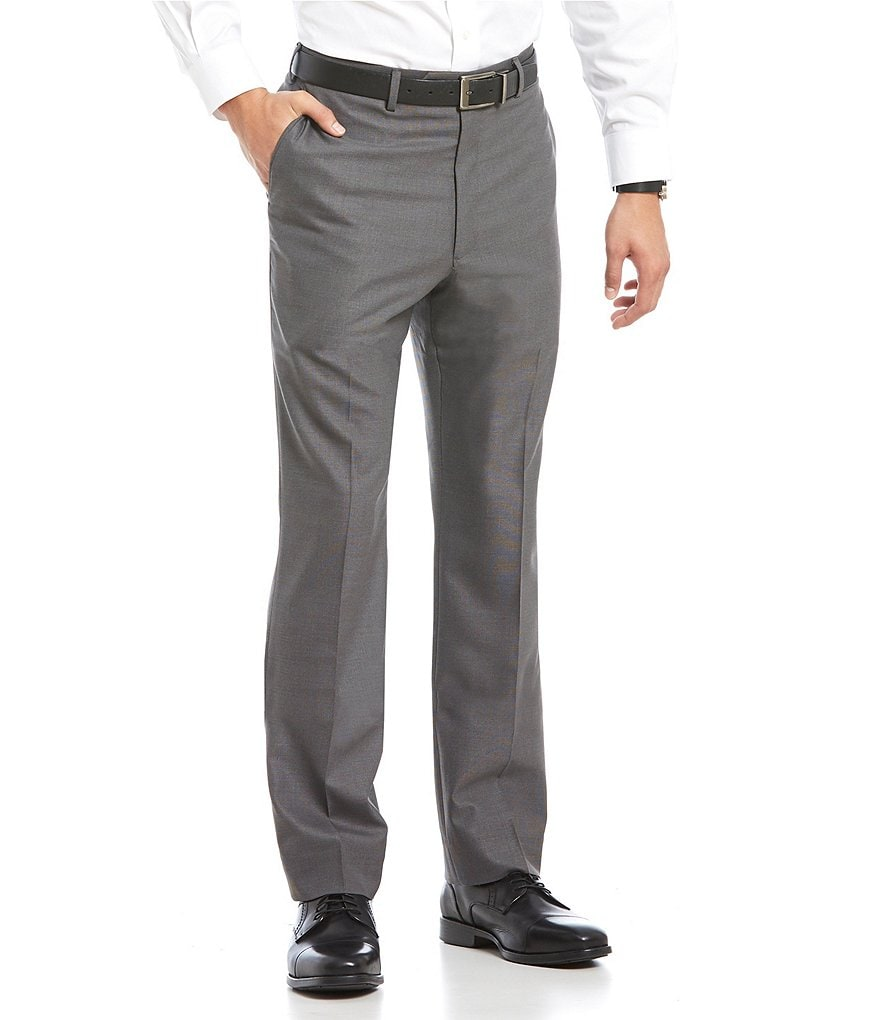 Roundtree & Yorke Flat Front Smart Non Iron Stretch Gab Dress Pants