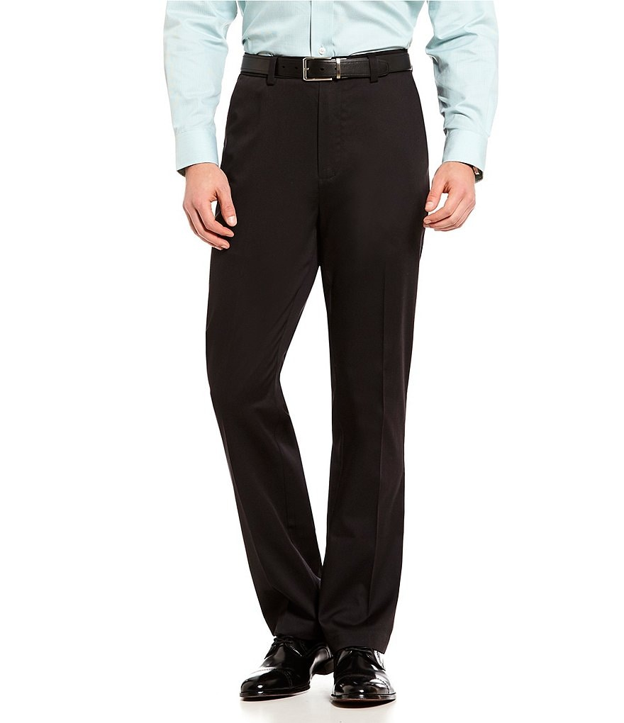 Roundtree & Yorke totalFLEX Classic Fit Flat Front CoreComfort Waistband Easy Care Pants