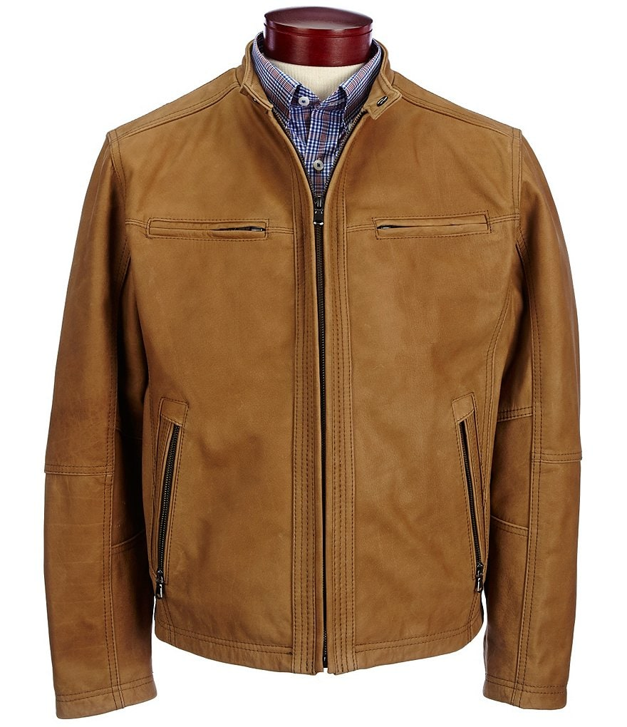 Roundtree & Yorke Leather Hipster Jacket