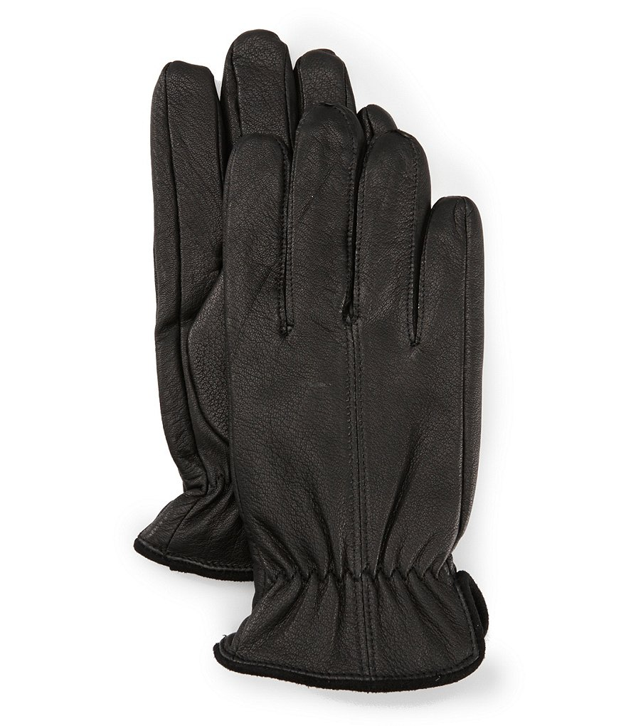 Murano Men's Deerskin Gloves with Suede Trim