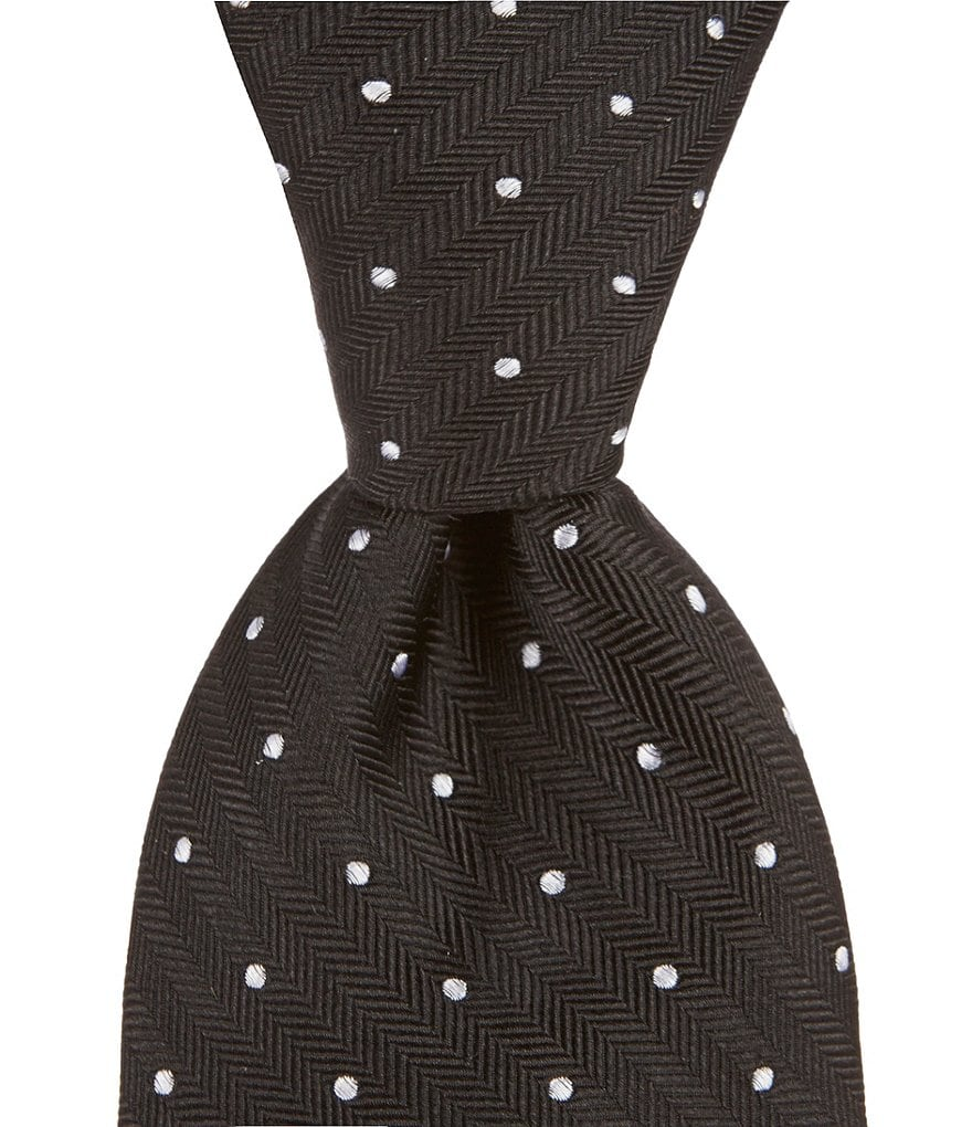 Roundtree & Yorke Rope Dot Traditional 3 1/8#double; Silk Tie