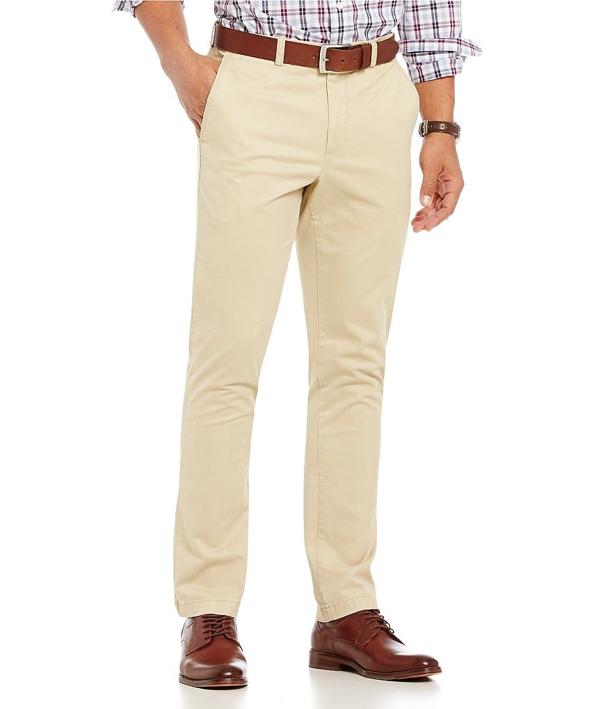Roundtree & Yorke Slim-Fit Casual Chino Pants