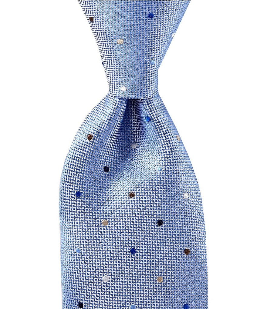 Roundtree & Yorke Trademark Multi Dots Traditional Silk Tie