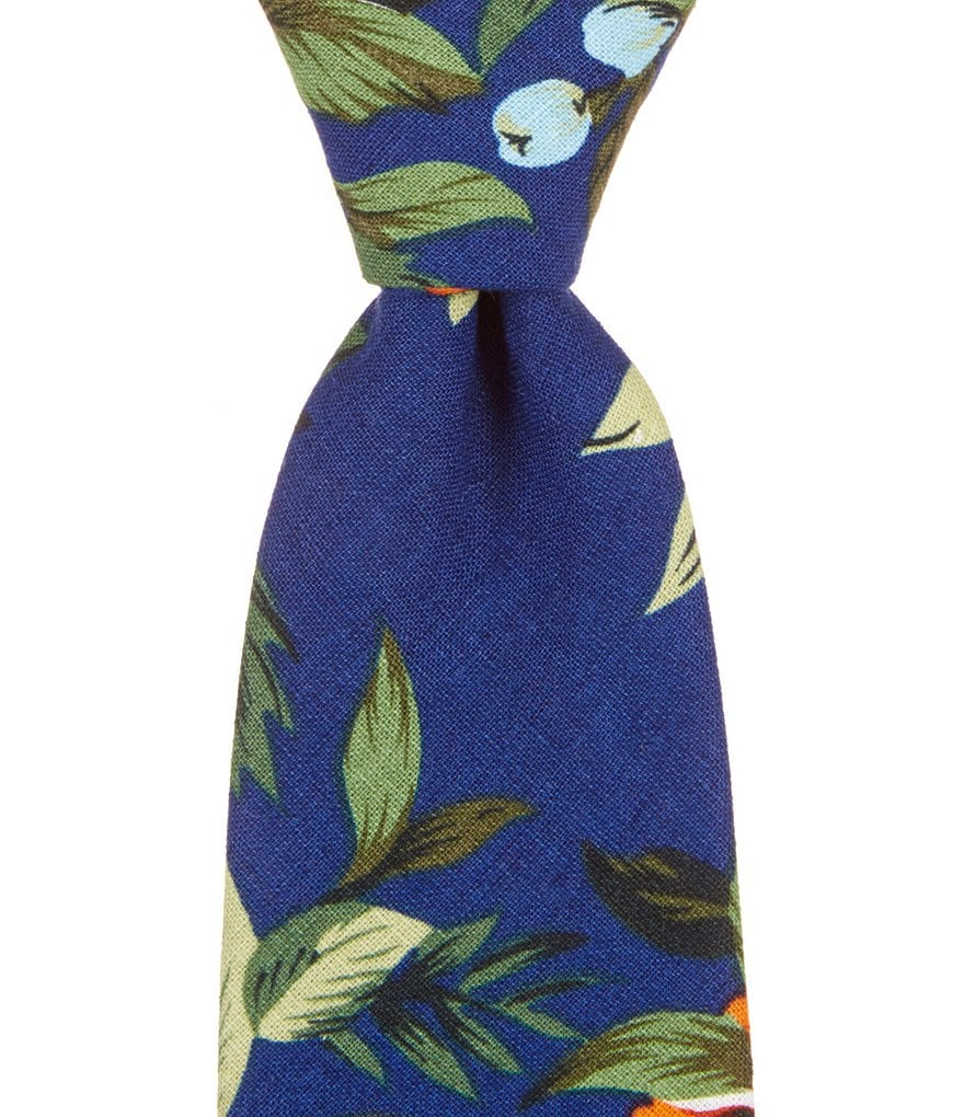 Roundtree & Yorke Trademark Narrow Relaxed Floral Tie